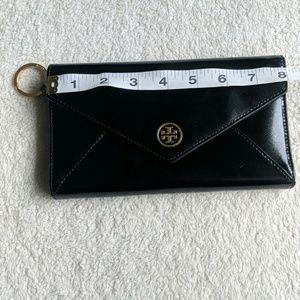 Tory Burch Robinson Black Envelope Clutch
